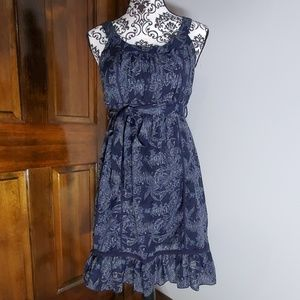 Passport Navy Blue Dress w/ Crochet Details